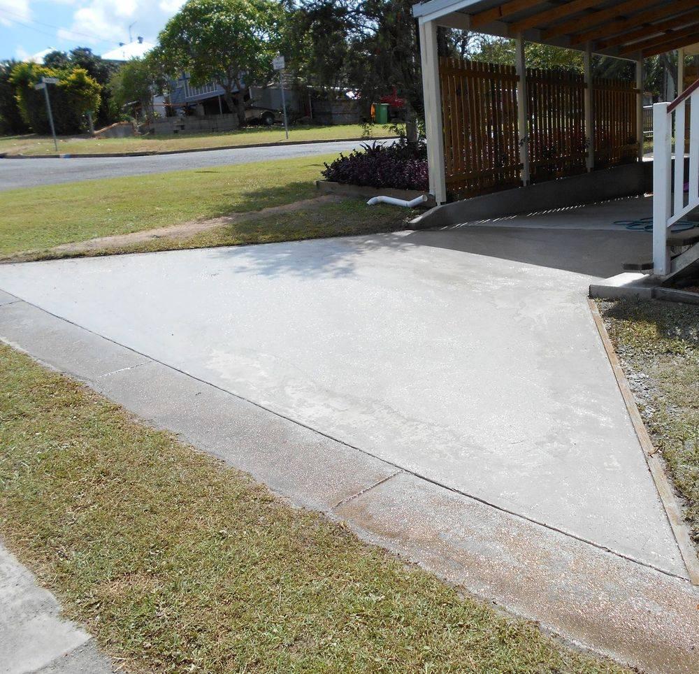 Concrete driveway extension Gympie