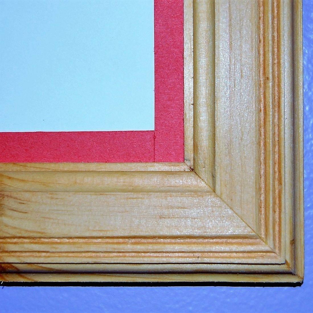 Edge of a wooden frame