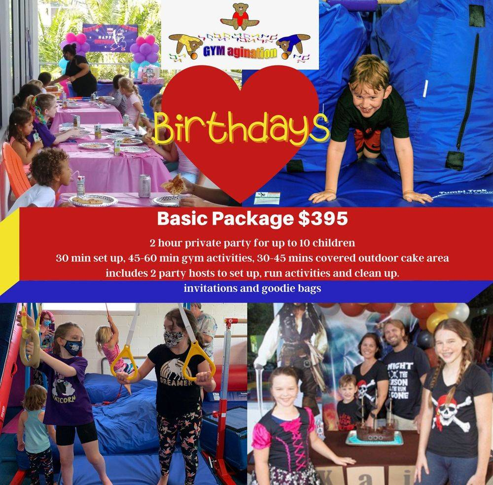 birthday Party Gymnastics Ninja Princess Toddler