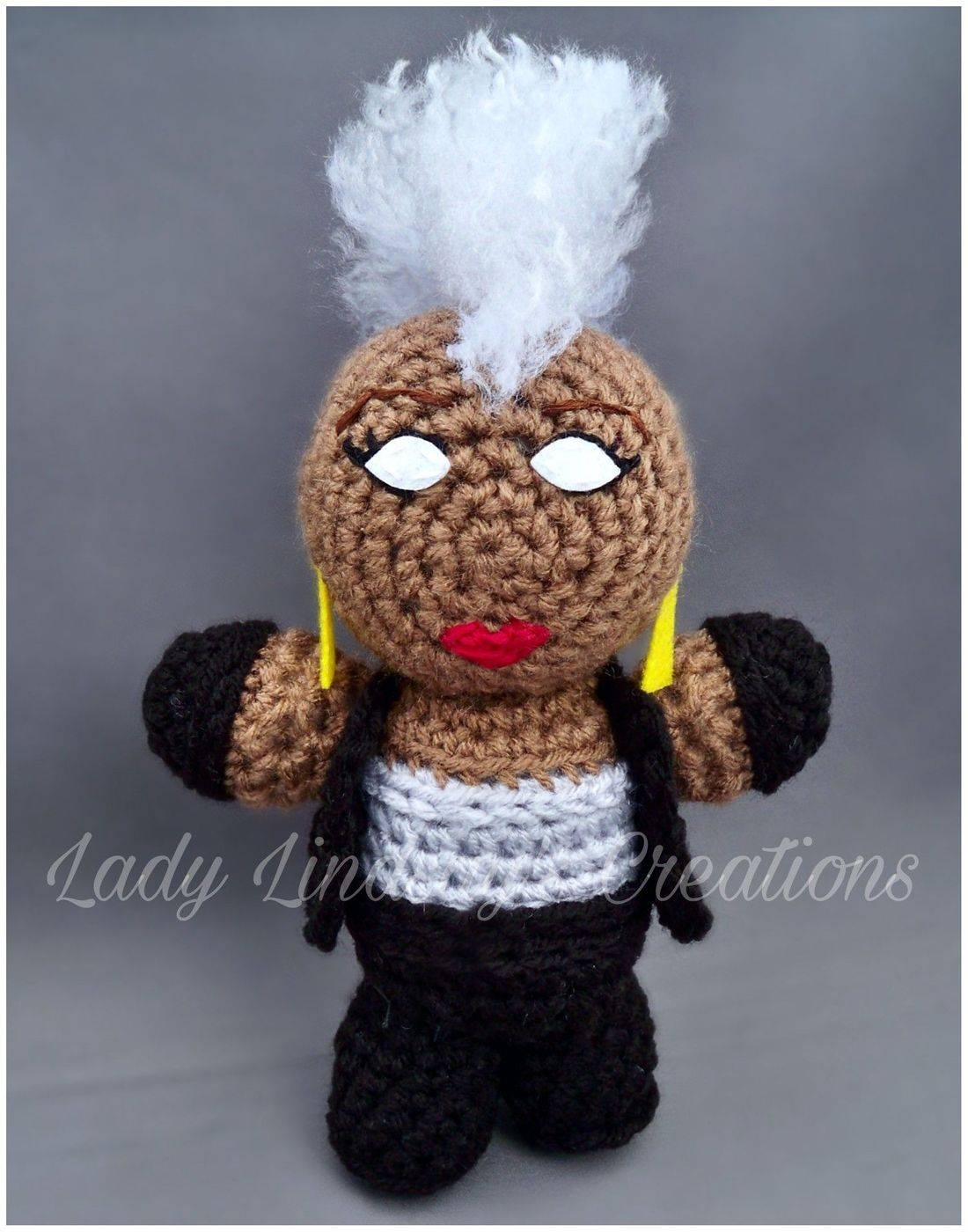 Ororo Munroe, Ororo, Storm, X-Men, Black Panther, T'Challa, Marvel, Comicbook, Amigurumi, Crochet, Plush, Shop Small, Handmade