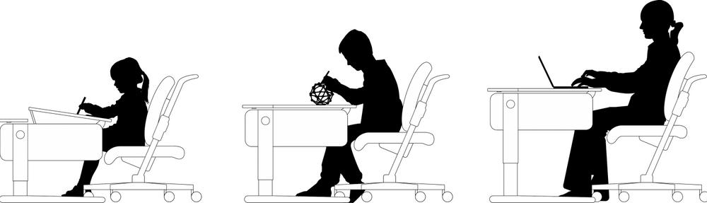 Scrivanie e sedute ergonomiche Moll