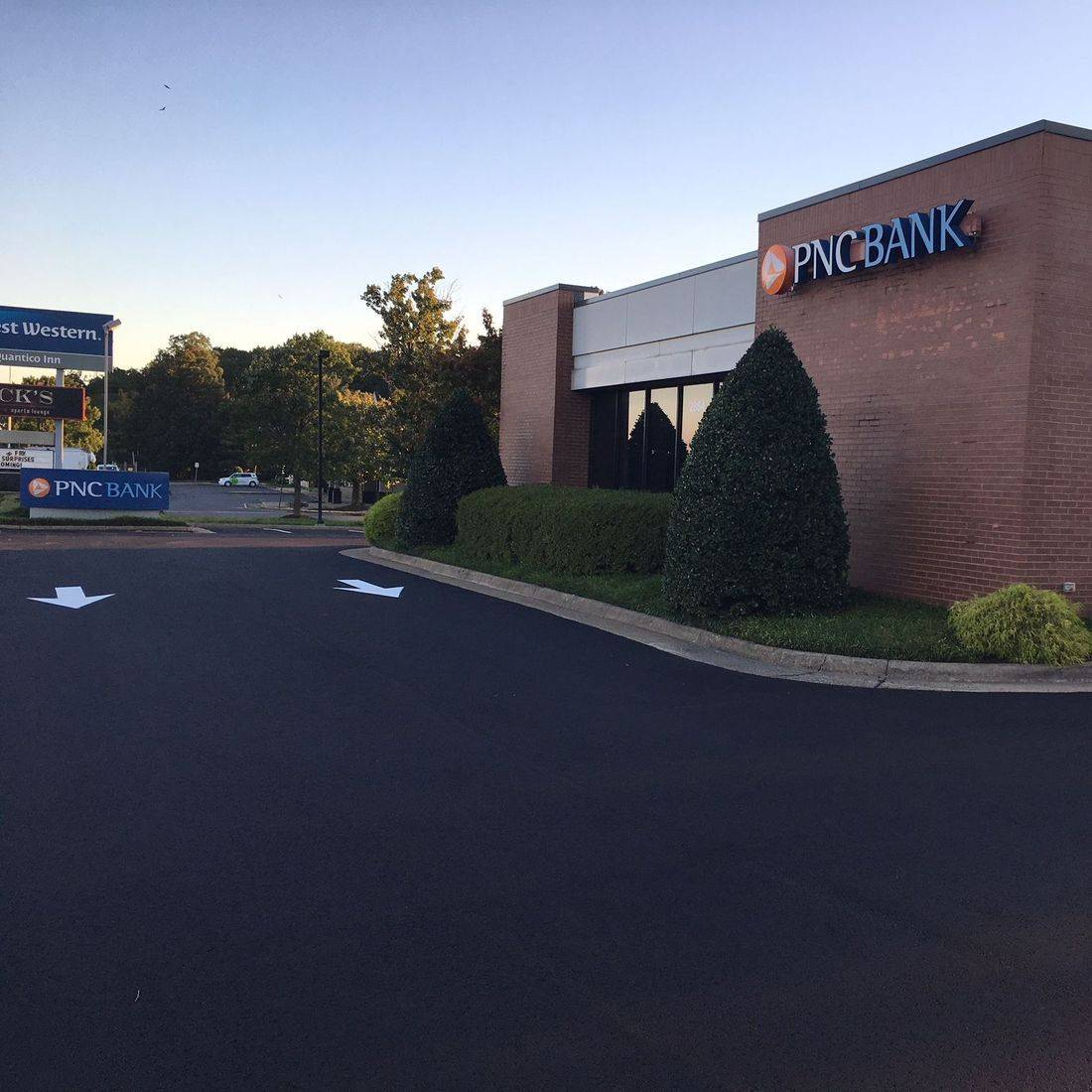 paved PNC Bank parking lot