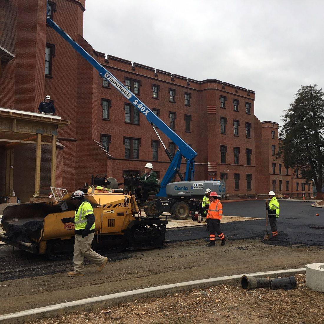paving at St. Elizabeths Historic Hospital Campus