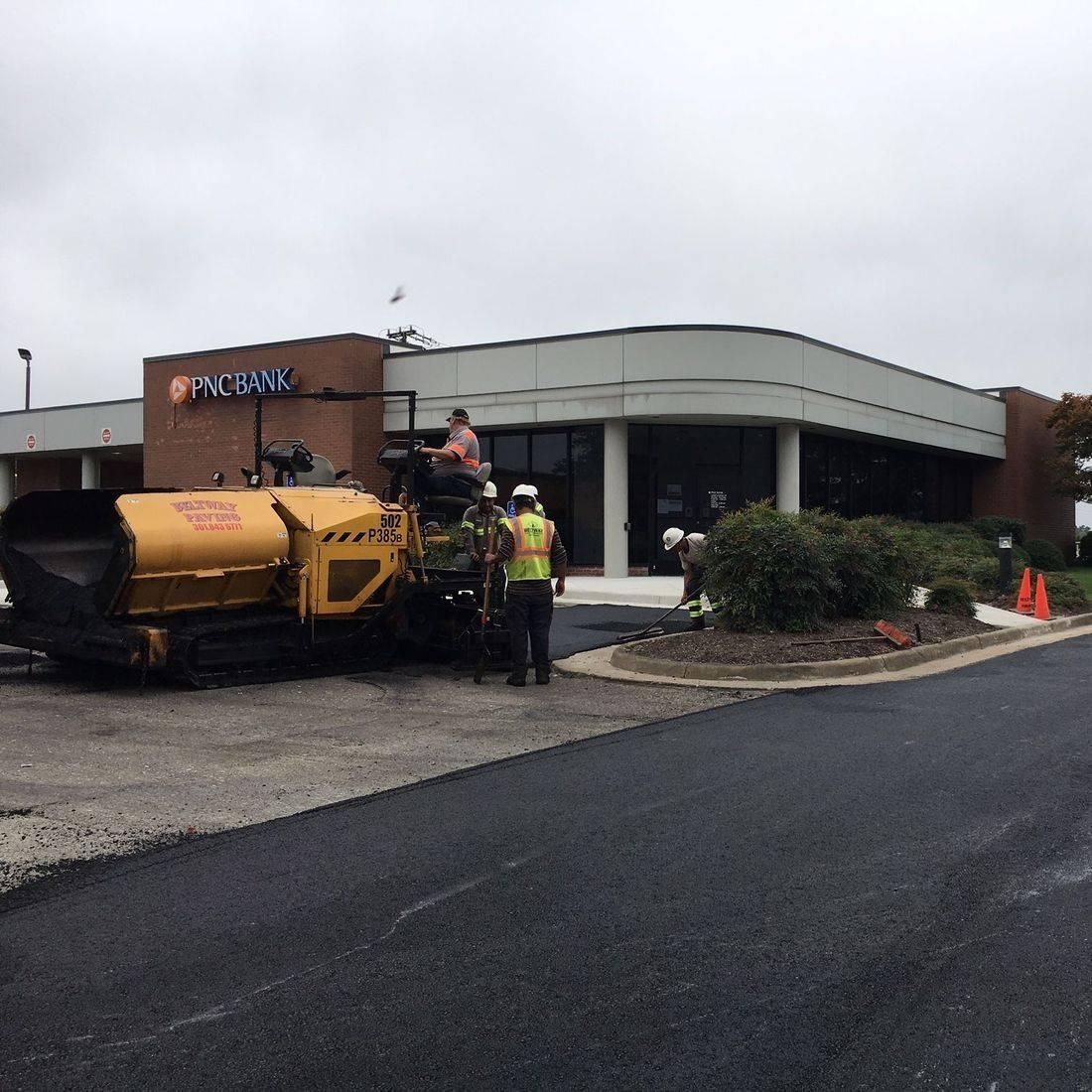 asphalt overlay of parking lot