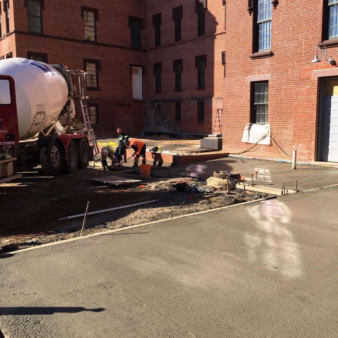 concrete pour at St. Elizabeths Campus