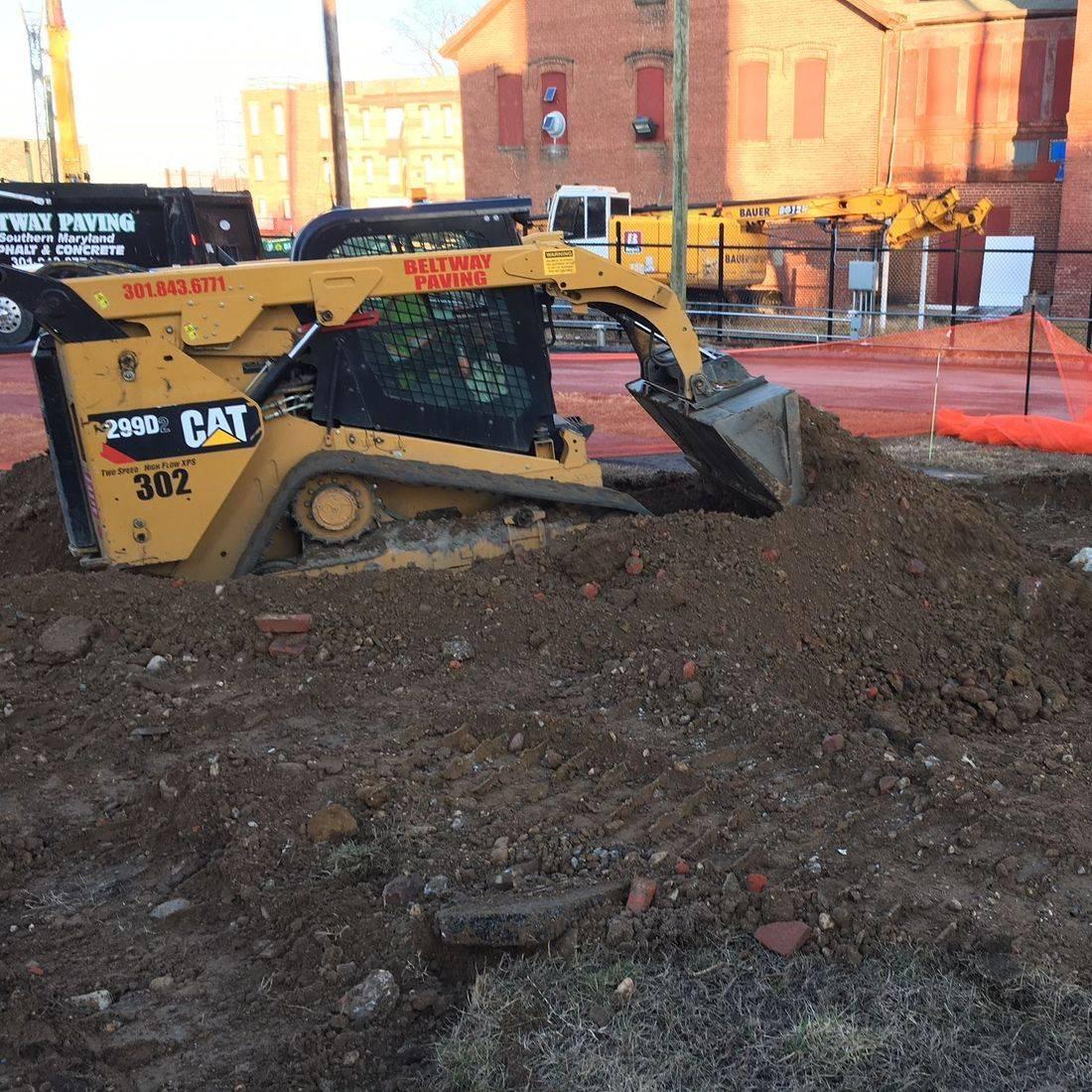 Excavation work at St. Elizabeths Campus in Washington, D.C.