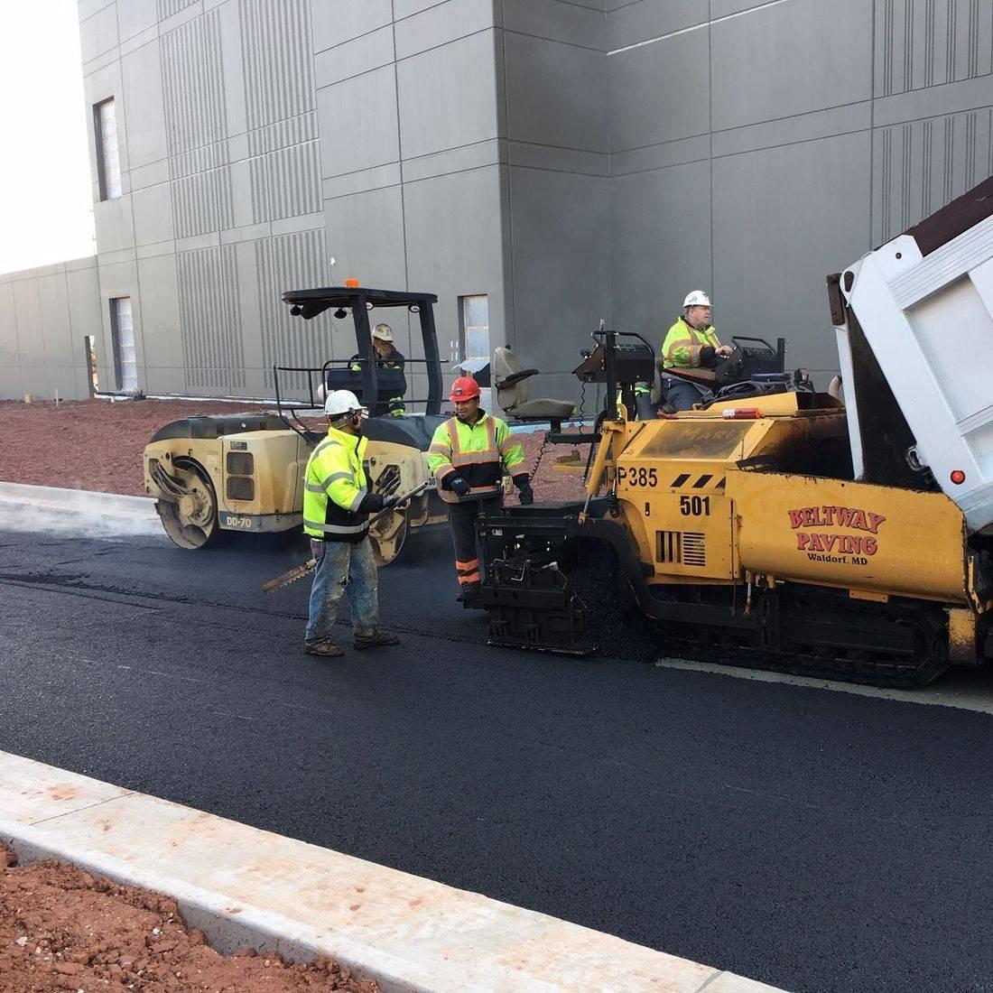 asphalt paving at Intergate Ashburn