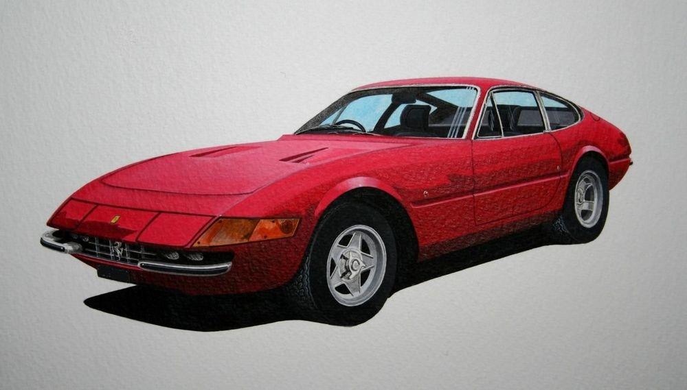 Ferrari Daytona  (Acrylic) : Commission (UK)