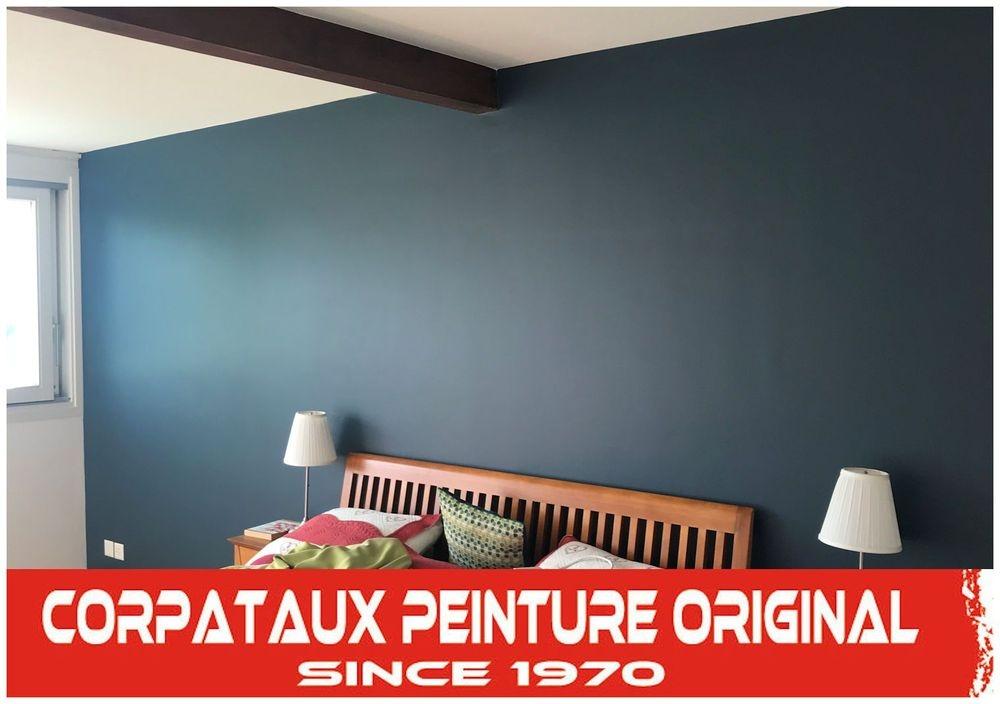 murs bleu chambre
