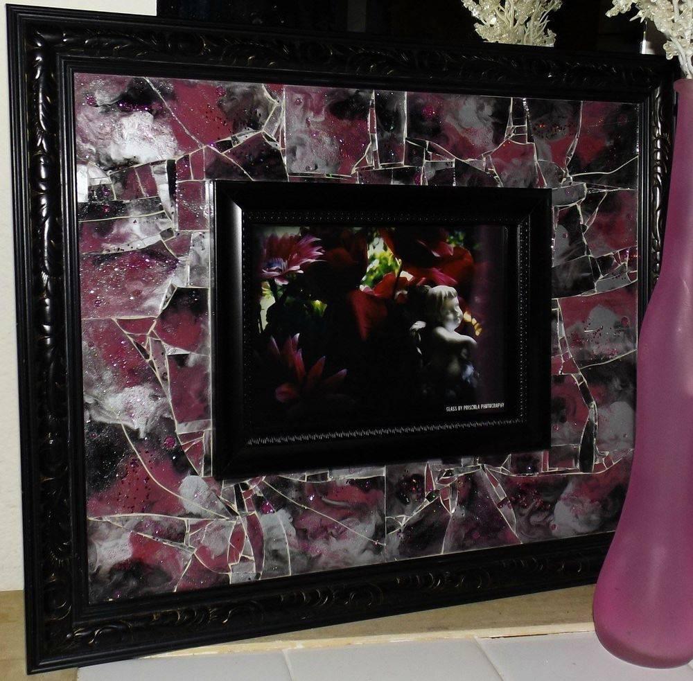 Hidden in Mischief Shattered Mosaic Glass Art by Glass by Priscilla