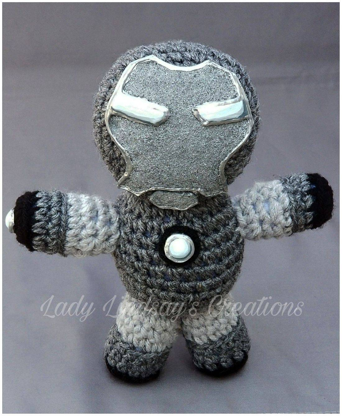 Infinity War, Avengers: Infinity Wars, War Machine, Rhodey, Iron Man, Tony Stark, Stark Enterprises, Amigurumi, plush, crochet, handmade, shop small, Etsy, nerd, geek, otaku, anime, manga, comicbook, superhero, avengers