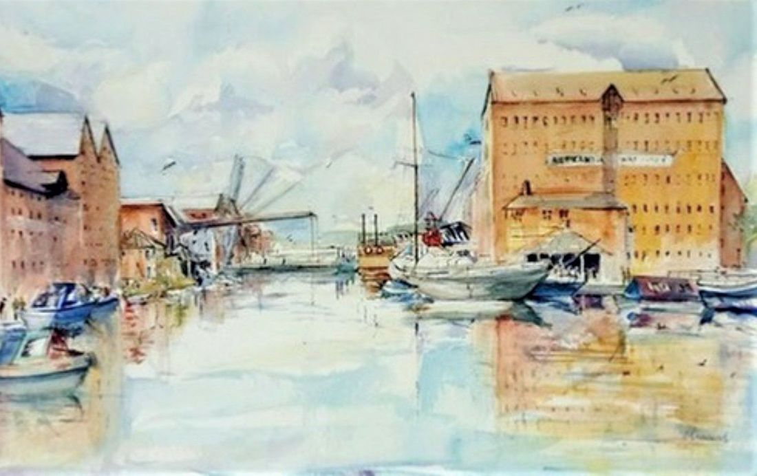 Gloucester Docks art