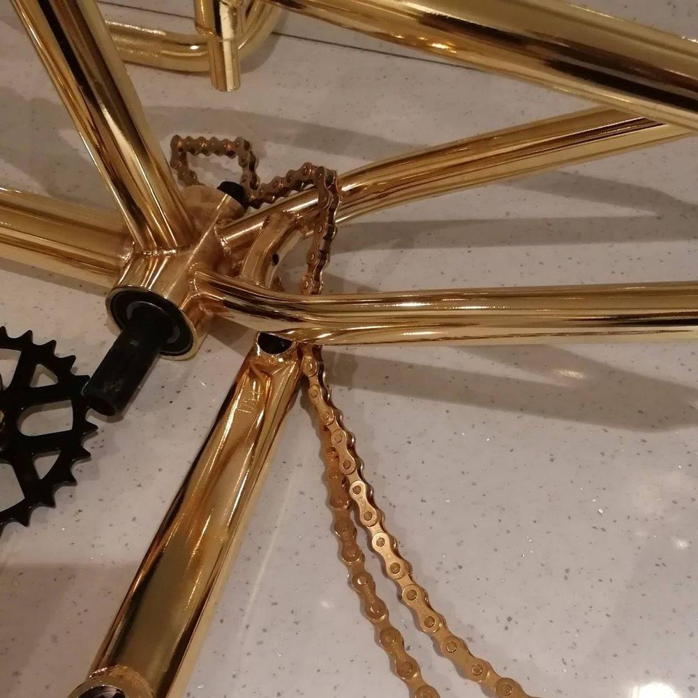 gold plated BMX