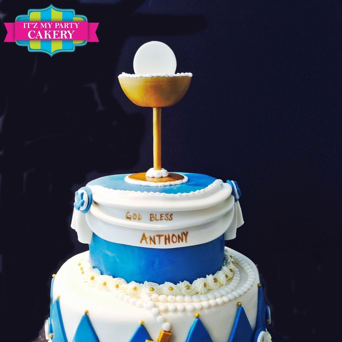 Custom First Communion Cake  Milwaukee