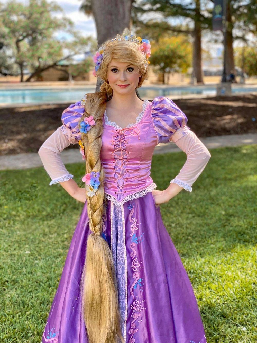 Princess Rapunzel birthday party character San Antonio