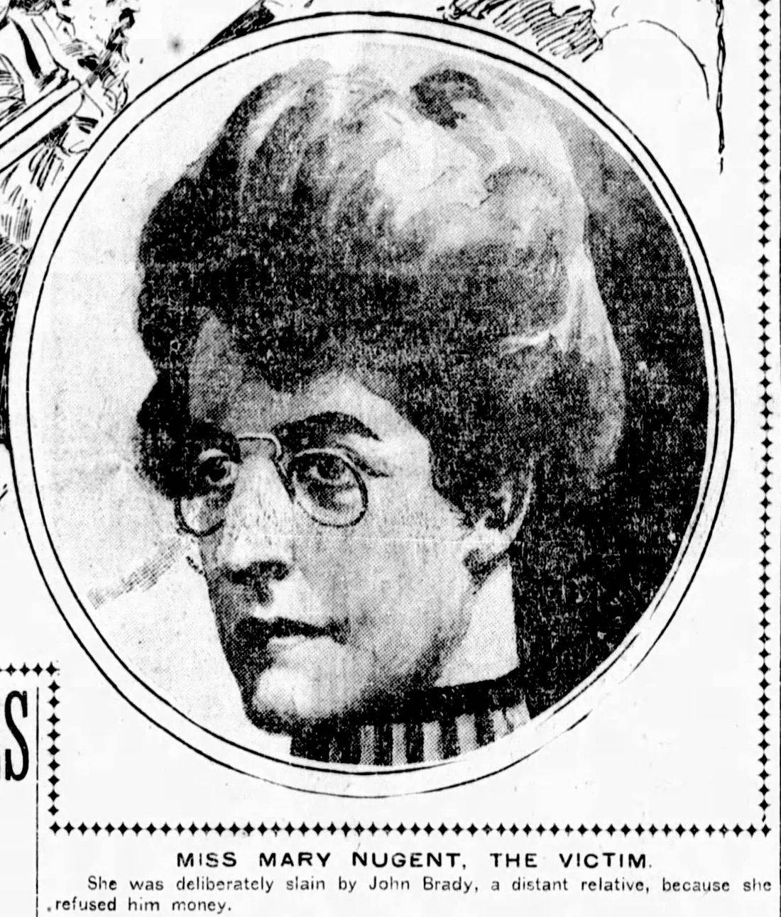 Murder victim Mary Nugent, ghost