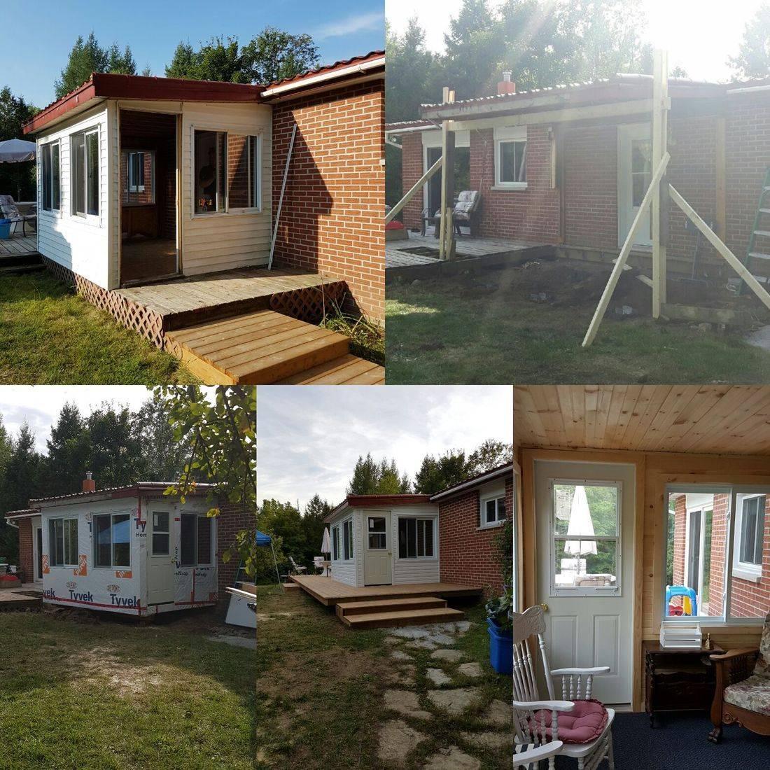 Muskoka, Renovation, Exterior, Sunroom, Deck, Contractor, Carpenter