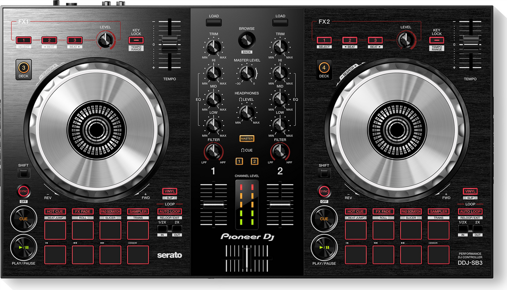 2 channel dj controller for rent