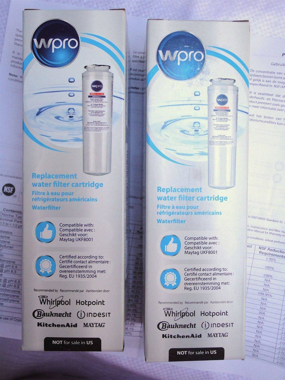 Wpro - Whirlpool - Maytag - Amana - Admiral - Gaggenau - UKF8001 - UKF8001/1 - UKF8001/A - UKF8001/AXX - Filter 4 - replacement internal refrigerator fridge ice water filter cartridge - sold & stocked at www.aaafilterfast.com