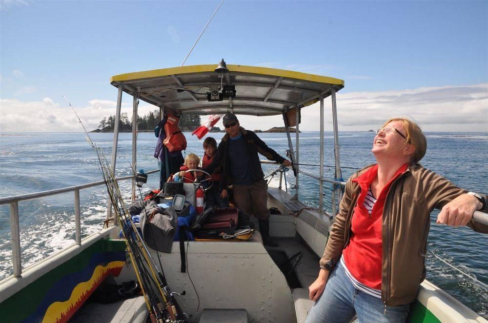 Family Fishing fun on the Pacific Ocean neat Lennard Island.