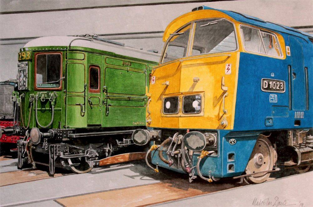 Class 52 loco & Southern Railway (watercolour) : £175