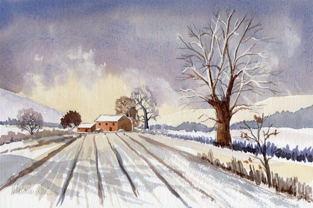 Winter Scene (Watercolour) : Wedding Gift (Sold)