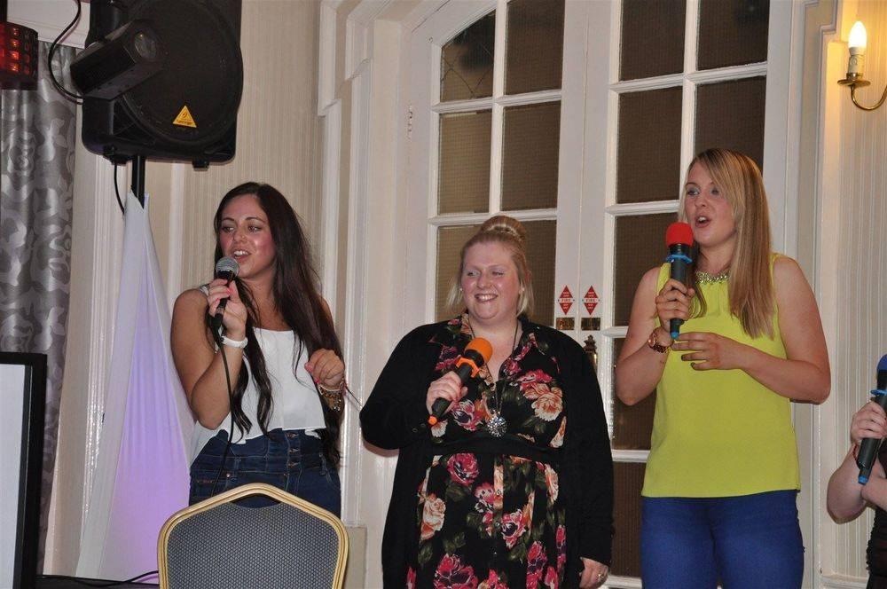 Karaoke singers at an event at Royal Clifton, Southport. Glynn Tee - Professional DJ - Karaoke DJ