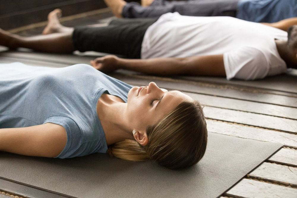 The rest position in TRE. TRE in Stevenage, is a simple way to release tension and trauma from the body through a process of shaking