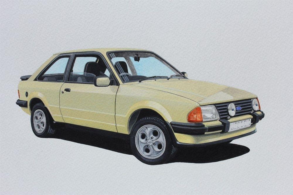 Ford Escort XR3i (Acrylic) : Commission (UK)