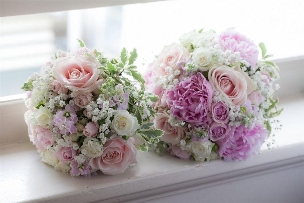 Pink Bridal Bouquet & Bridesmaid Bouquet