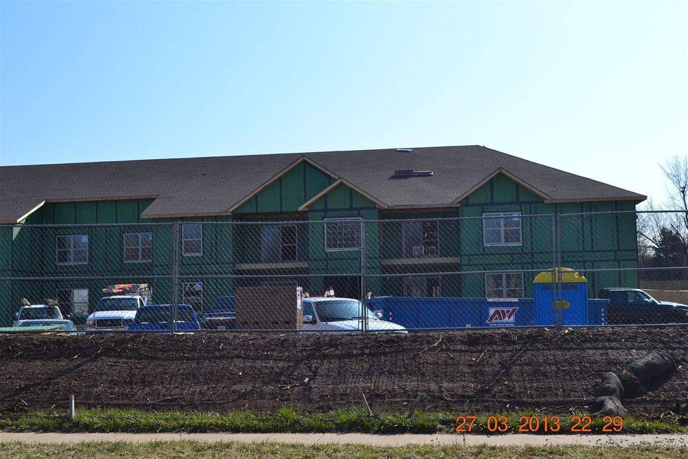 Morelock Ross Apartment complex after Abc Roofing completed the roof.