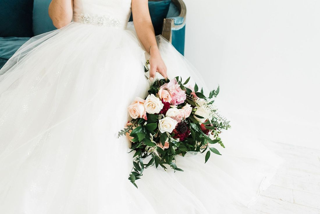 Greenery bouquet,  Lush organic, bridal bouquet Ivy, Pink Peony, Astilbe,  Blush Pink Roses, Ivory Roses, Wine Roses, Mums