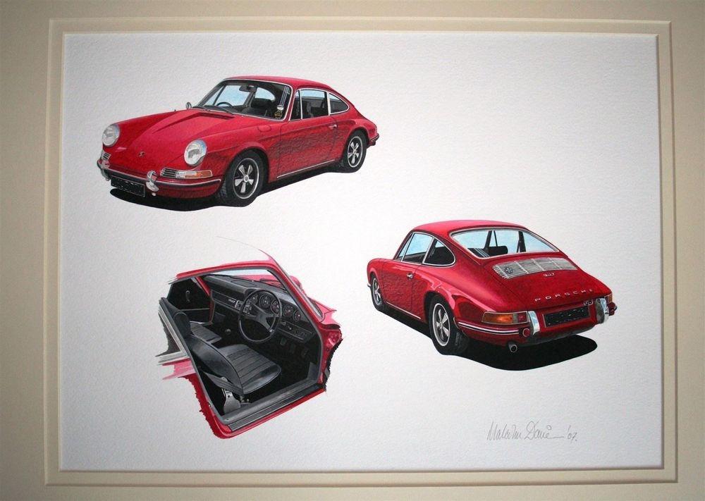 Porsche 911T (Acrylic) : Commission (UK)