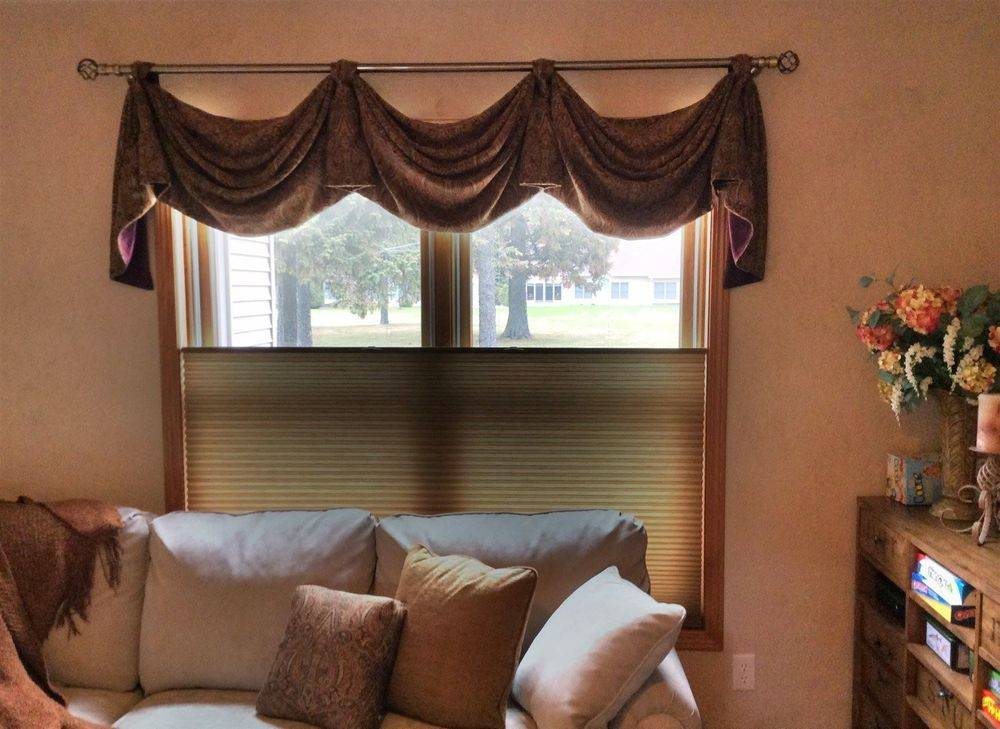 Hunter Douglas Duette Architella energy efficient honeycomb  shades in the music room