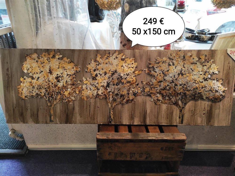 Tableaux 3 arbres Peintures/Métal 50 x 150 cm