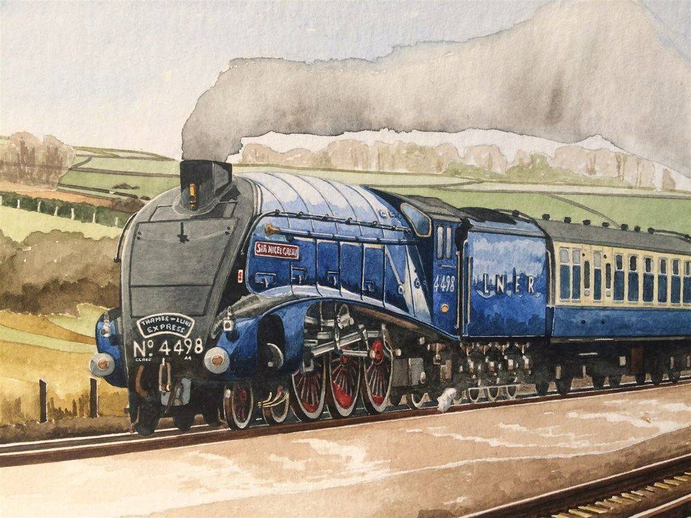Close up of Sir Nigel from the above painting