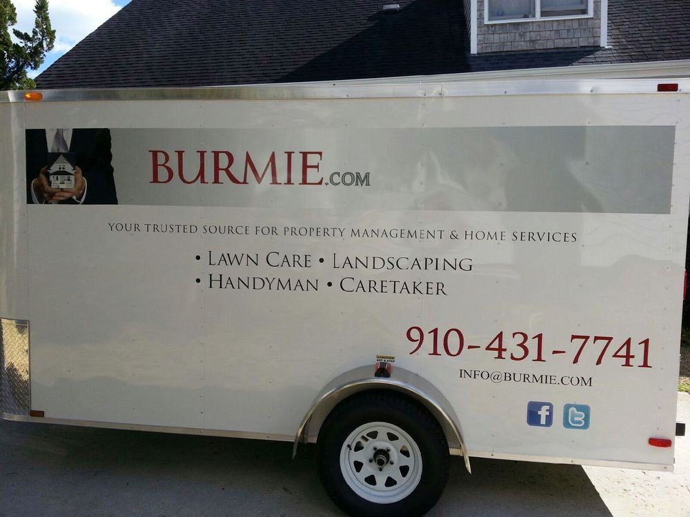 BURMIE Lawn Care Service Landscaping Service Wilmington NC. Offers affordable Lawn Maintenance, Commercial and Residential Lawn Care Landscaping. Yard Maintenance discounts are available. Spring / Fall Yard Clean Up Services in Wilmington NC. Call Today for Fast Free Lawn Service Estimates. Ph: 910-431-7741
