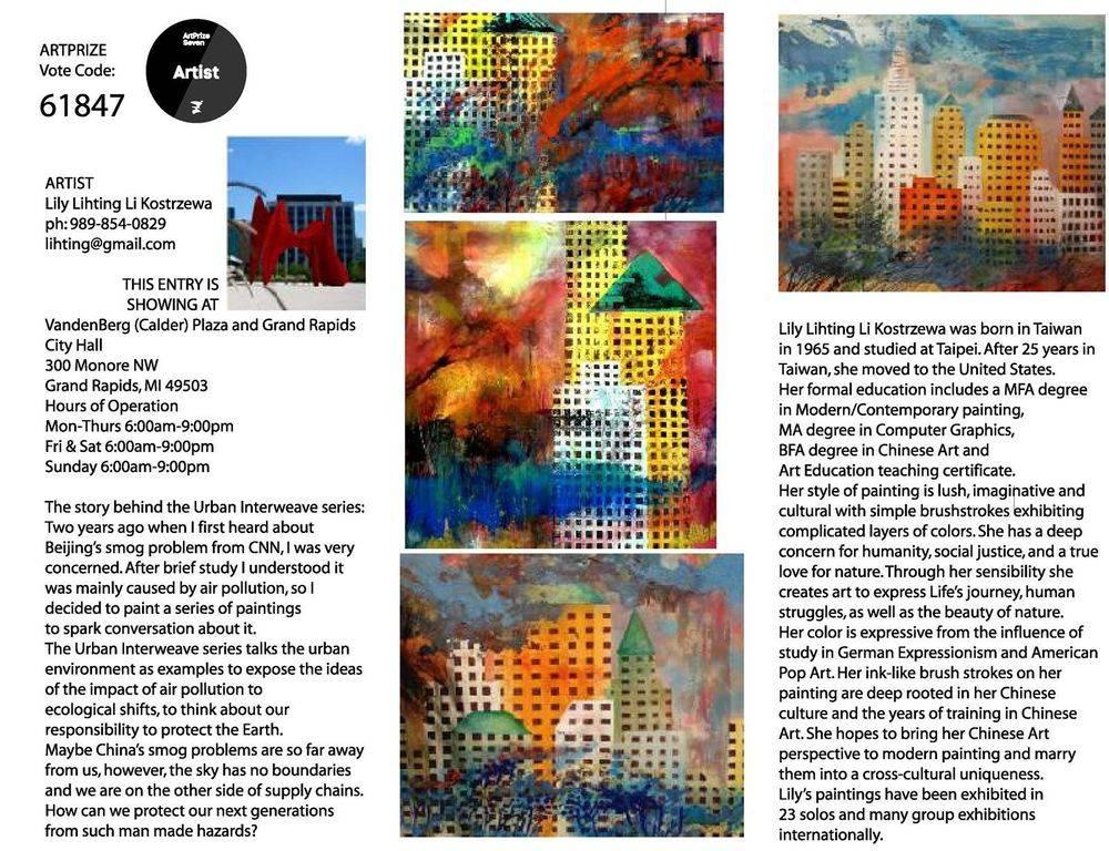 artprize7; urban interweave series #1-10