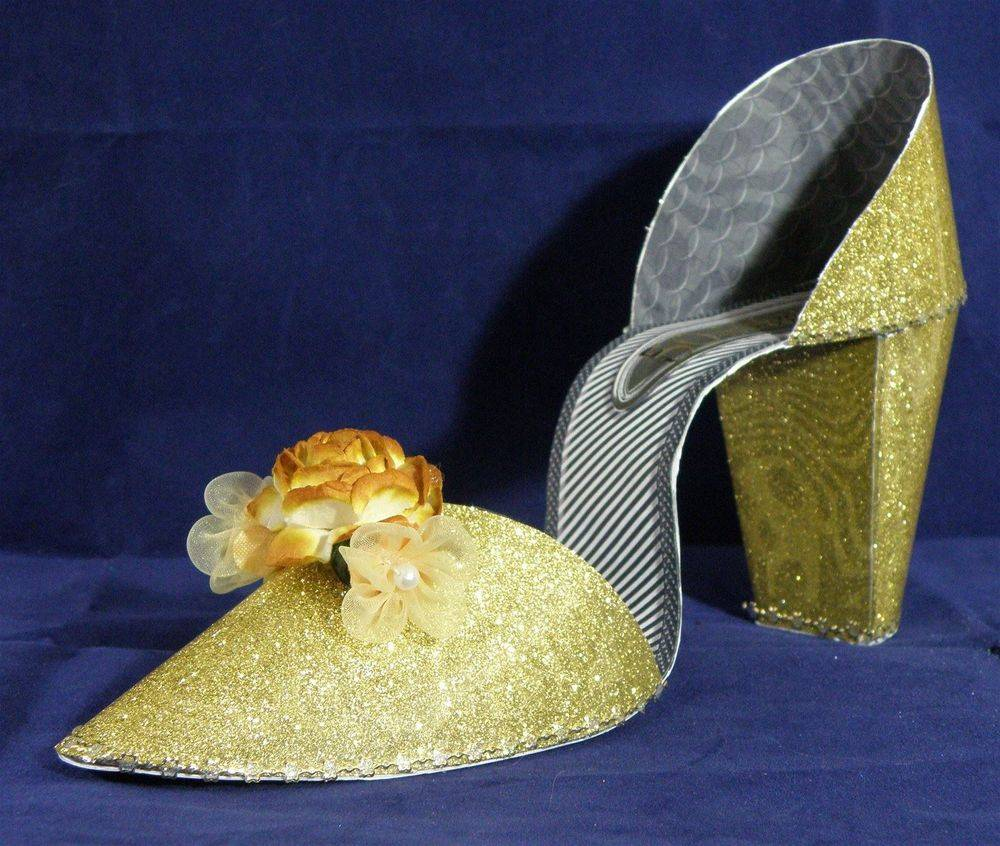I Love Shoes - Glittery Gold (3D shoe)