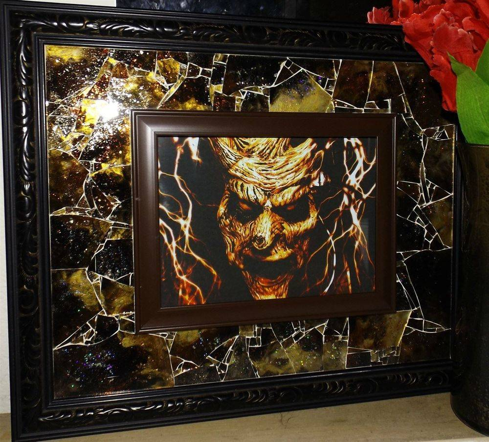 Gaze From Malevolence Shattered Mosaic Glass Art by Glass by Priscilla