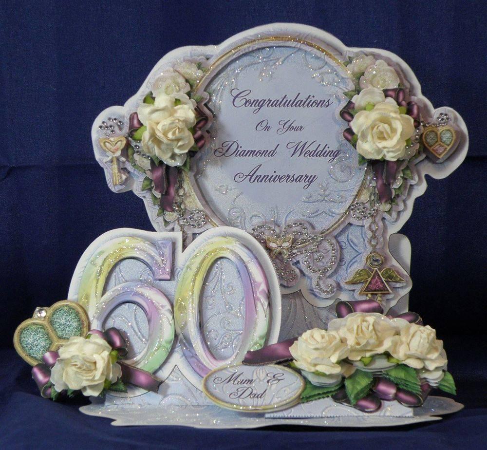 Diamond Wedding Easel Tableau Card