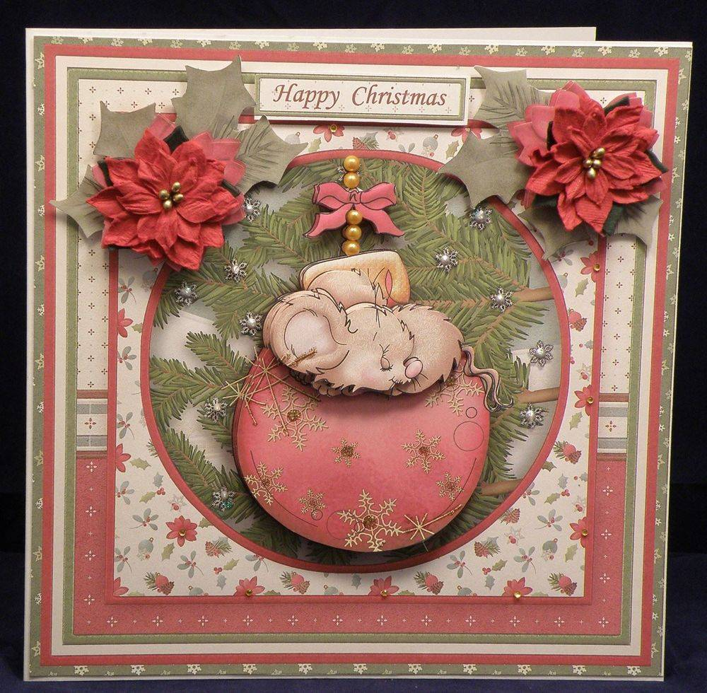 Christmas Mouse on a Bauble