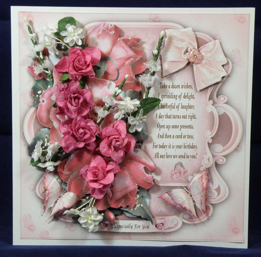 Sugar Pink Roses Card Mini Kit cup715372 1641