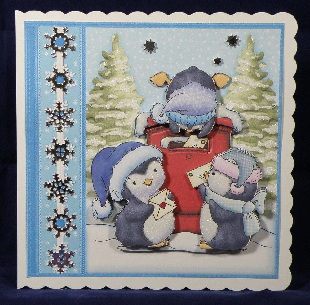 Penguins Christmas Post