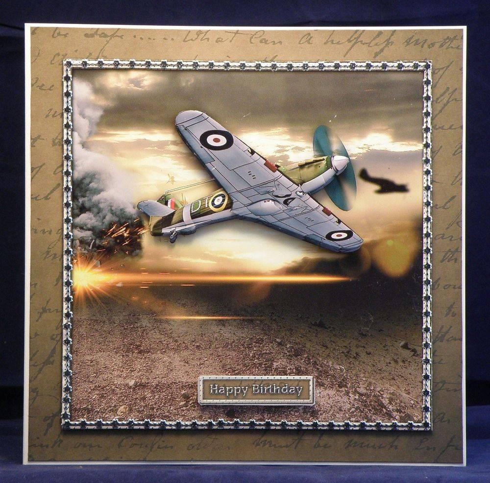 Battlefield (8 x 8 decoupaged card)