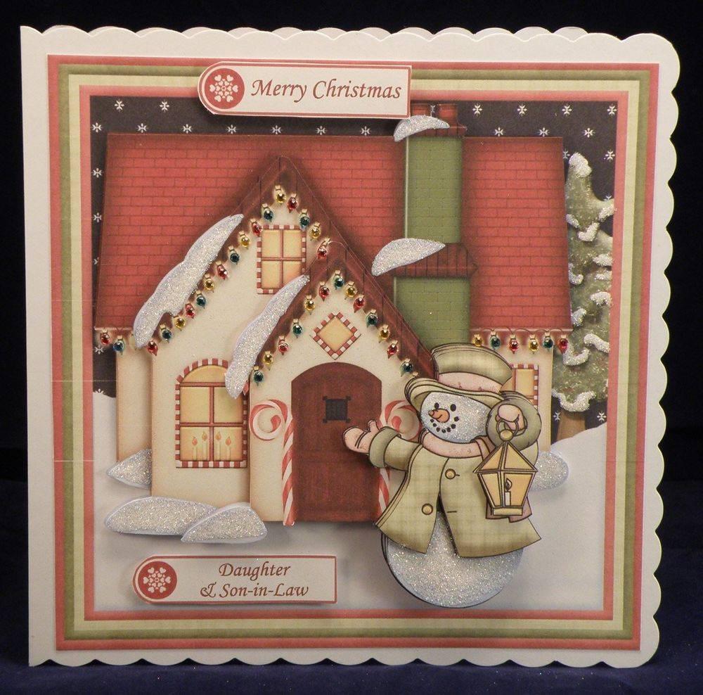 Christmas House & Snowman