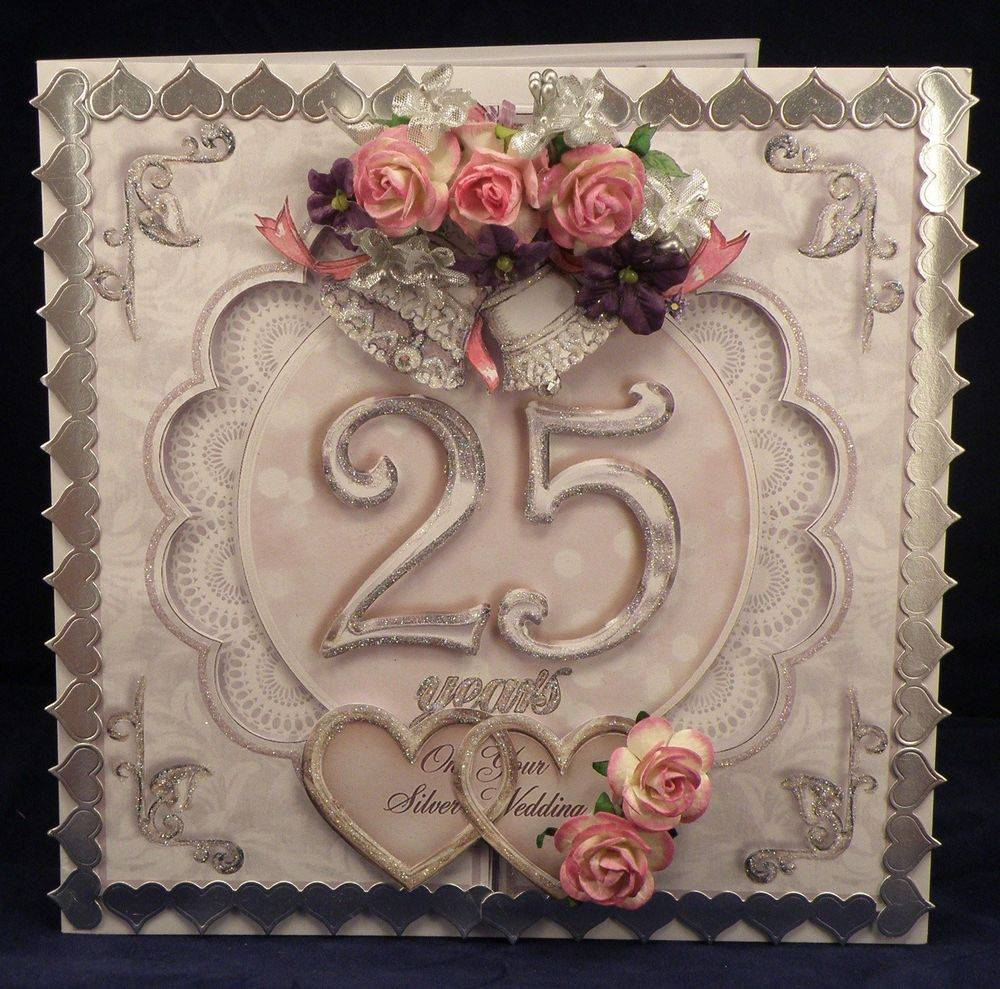 Silver Wedding Open Front card