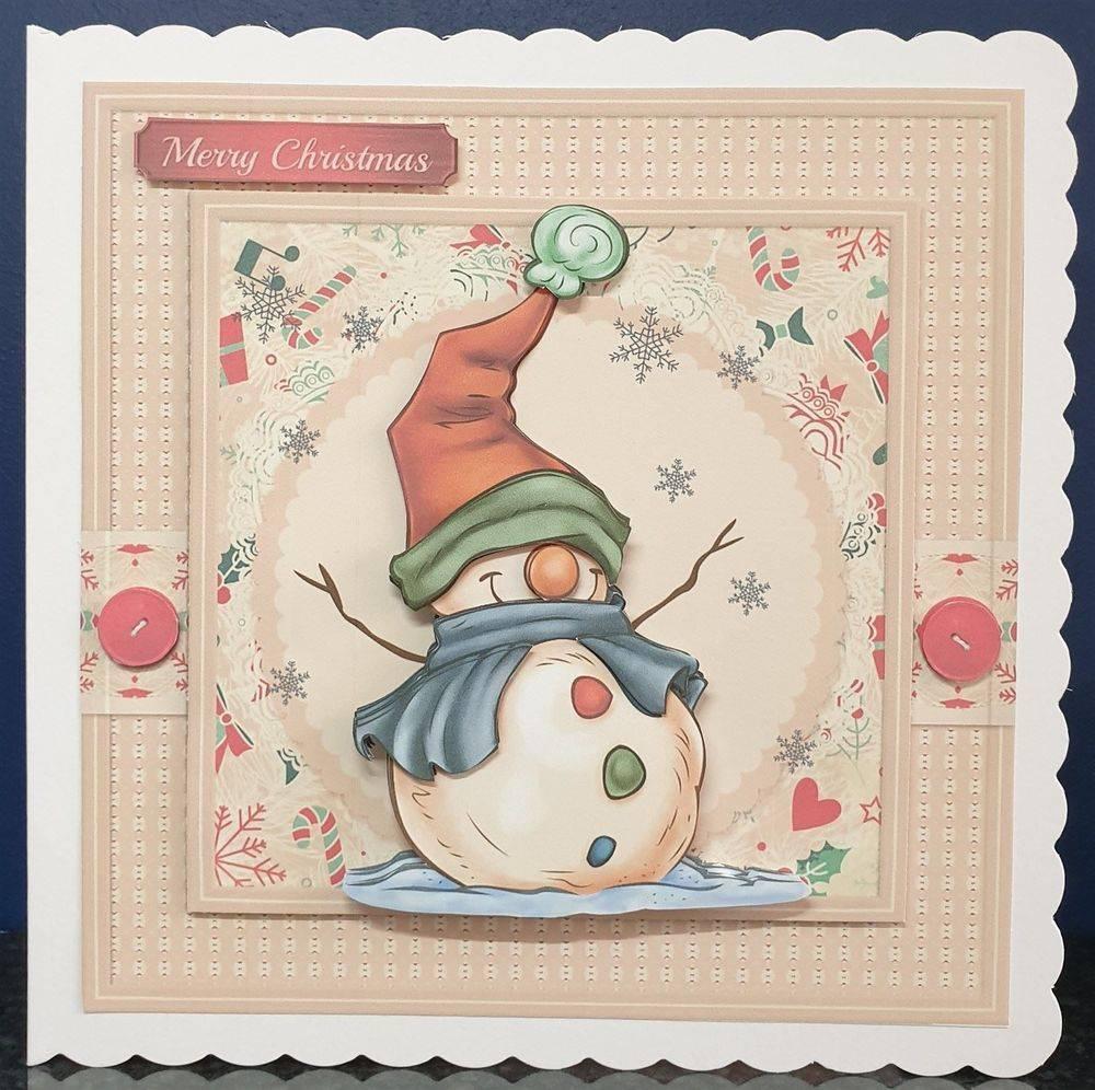 A cheerful snowman
