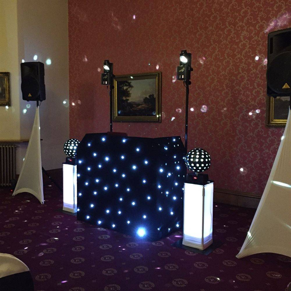 Bronze Plus DJ Package with additional mirror balls for a Wedding at Haig Hall, Wigan