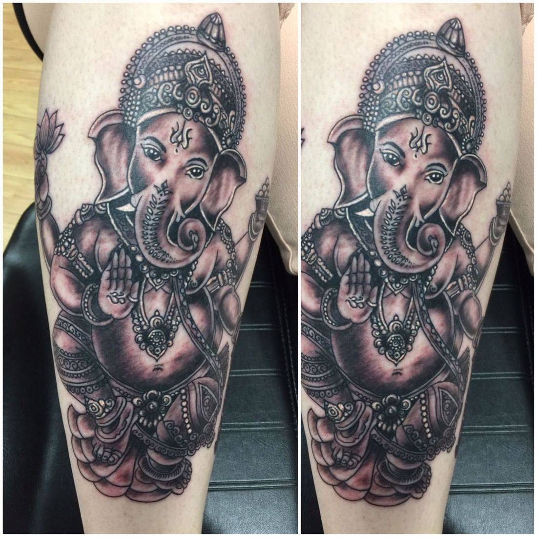 Ganesh Tattoo by mcgoldtooth at Kazbah Leicester